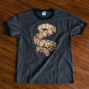 Vintage Snake Boa Constrictor Ringer T-Shirt